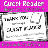 Guest Reader Thank You Note Certificate - March is Reading Month