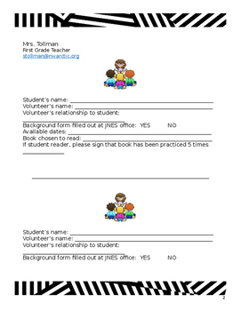 Guest Readers Wanted letter