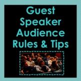 Guest Speaker Audience Etiquette PPT