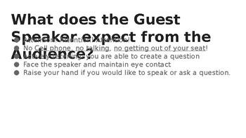 Guest Speaker Behavior