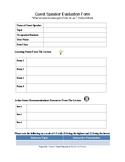Guest Speaker Evaluation Form