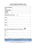 Guest Speaker Evaluation Form