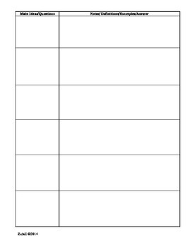 Guest Speaker Notes Graphic Organizer for CCSS