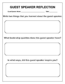 Guest Speaker Reflection