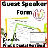 Guest Speaker Form