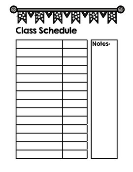 Guest / Substitute Teacher Lesson Plan Binder