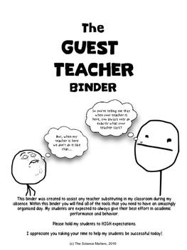Guest Teacher Binder
