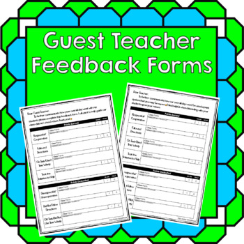 Guest Teacher - Feedback Form