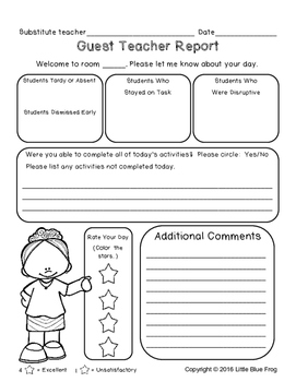 Guest Teacher Report