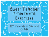 Guest Teacher / Substitute Brain Break Cards
