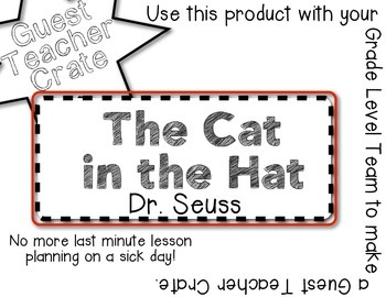 The Cat in the Hat - Guest Teacher Crate