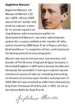 Guglielmo Marconi Handout