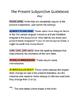Guía al Presente del Subjuntivo - Guide to the Present Sub