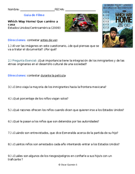 Movie Guide in SPANISH Which Way Home. La Bestia Centroamérica. Inmigración.