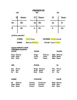 Guía de estudia / repaso: GRAMATICA.  Study/ review guide: Grammar