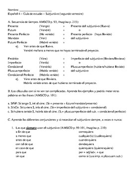 Guia de estudio subjuntivo Espanol 4