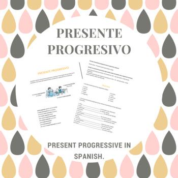 Presente Progresivo Worksheets Teaching Resources | Teachers Pay ...