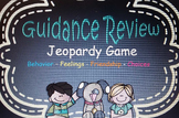 Guidance Counseling Review Jeopardy End of the Year