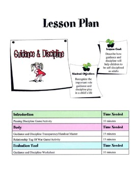 Guidance & Discipline Of Children Lesson