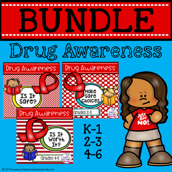 BUNDLE:  Guidance Lessons on Drug Awareness, Grades K-6