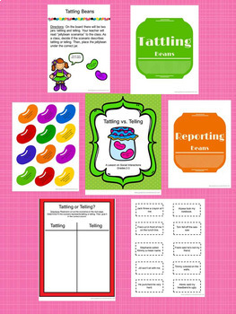 Guidance Lesson BUNDLE on Social Interactions: Tattling vs. Telling, Grades K-6