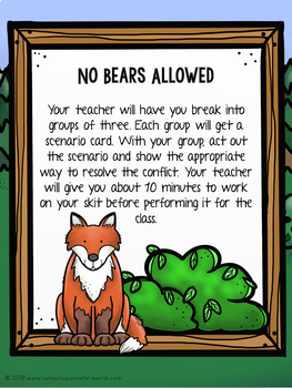 Guidance Lesson-Conflict Resolution: Don't Be A Bear, Agree to Peace, Grades 2-3