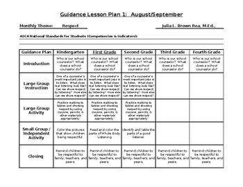 Guidance Lesson Plan Form