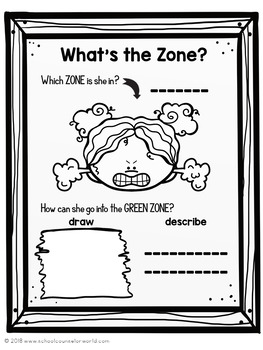 Guidance Lesson-Zones of Emotions Toolbox, Grades K-1