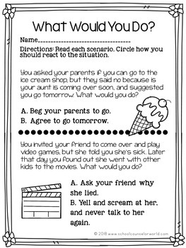 Guidance Lesson for Conflict Resolution, Grades 2nd-3rd