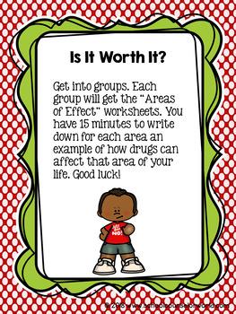Guidance Lesson for Drug Awareness, Grades 4-6