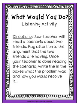 A Guidance Lesson for Getting Along, Grades 4-6