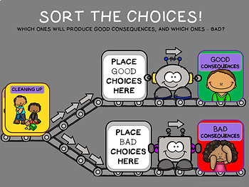 An INTERACTIVE Lesson on Choices=Consequences/Rewards, Grades K-1