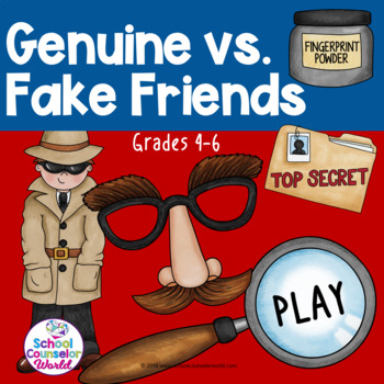An Interactive Guidance Lesson on Genuine/Fake Friends, Grades 4-6