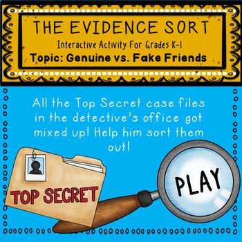 An Interactive Guidance Lesson on Genuine vs. Fake Friends, Grades K-1