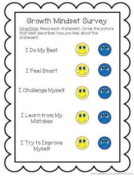 Guidance Lesson on Growth Mindset, Grades K-1