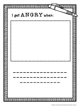 Guidance Lesson on How Anger Only Hurts Me, Grades K-1