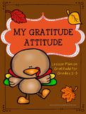 Guidance Lesson on My Thanksgiving Gratitude Attitude for Grades 2-3