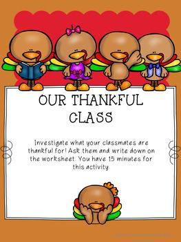 Guidance Lesson on My Gratitude Attitude for Grades K-1