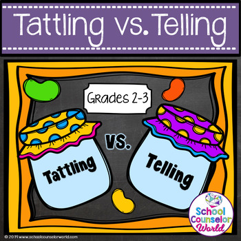 Guidance Lesson on Social Interactions: Tattling vs. Telling, Grades 2-3