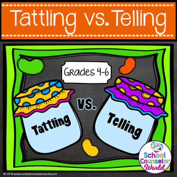 A Guidance Lesson on Social Interactions: Tattling vs. Telling, Grades 4-6