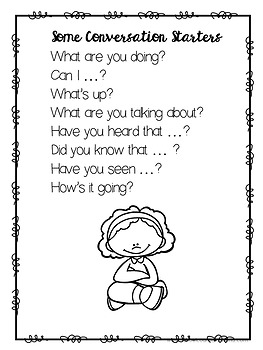 A Guidance Lesson on Social Skills-Practicing Conversations, Grades 2-3