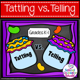 Guidance Lesson on Tattling vs. Telling, Grades K-1