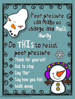 Guidance Lesson on The Effects of Peer Pressure, Grades K-1
