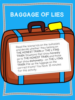 A Guidance Lesson on The Lying Train, Grades K-1