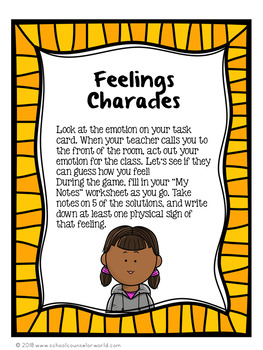 A Guidance Lesson on The Physical Symptoms of Feelings & Emotions, Grades 4-6
