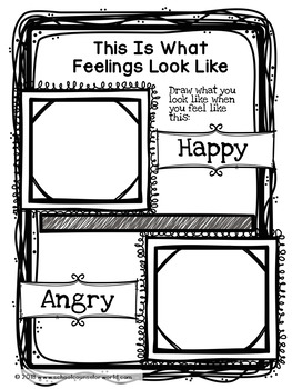 Guidance Lesson on The Physical Symptoms of Feelings & Emotions, for Grades K-1