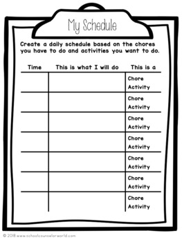 Guidance Lesson on Time Management, Grades 4-6