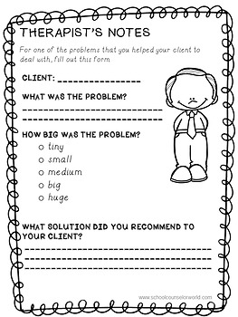 A Guidance Lesson on The Size of My Problem, Grades 2-3
