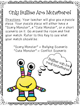 A Guidance Lesson on Conflict vs. Bullying, Grades 2-3