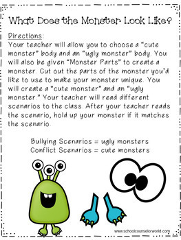 Guidance Lesson to teach Conflict vs. Bullying, Grades K-1